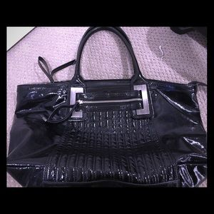 Patent Leather tote bag.